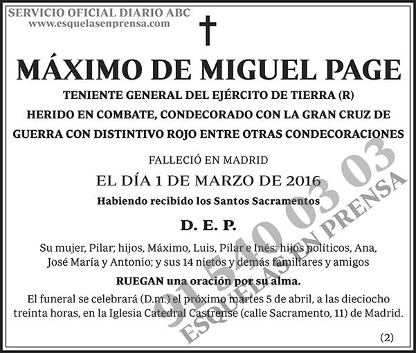 Máximo de Miguel Page